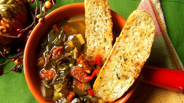 Collard Green Soup with Spanish Chorizo & Potatoes
