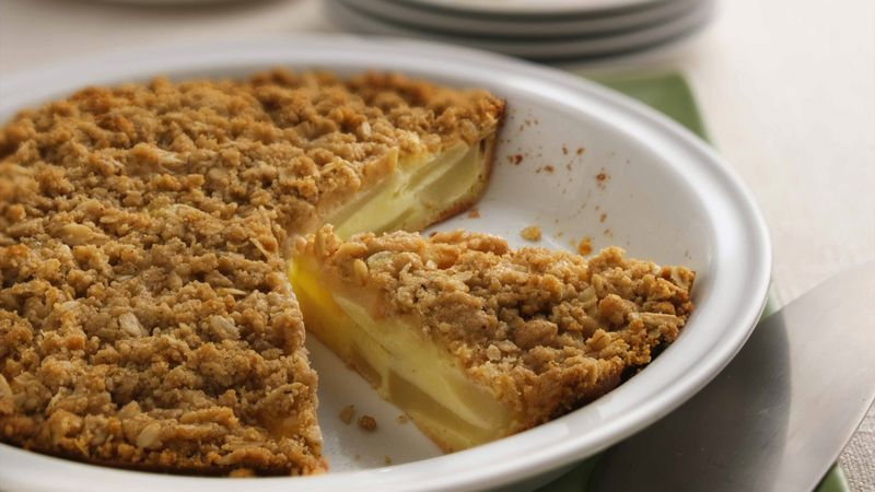 Impossibly Easy Pear-Custard Pie