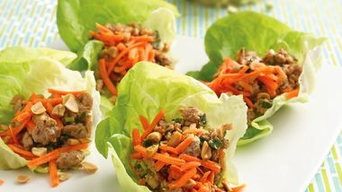 Thai Turkey Lettuce Wraps