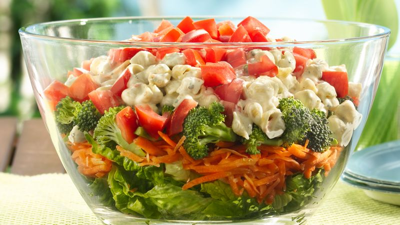 Layered Summer Pasta Salad
