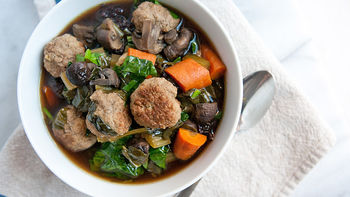 Slow-Cooker Lamb and Wild Rice Soup