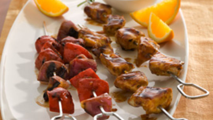 Easy Grilled Chicken Shish Kabobs