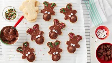 Hershey's™ Kisses™ Reindeer Sugar Cookies