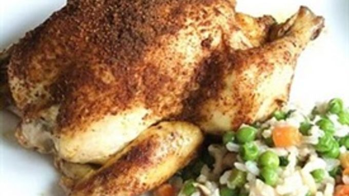 Moroccan Spice-Rubbed Cornish Hens