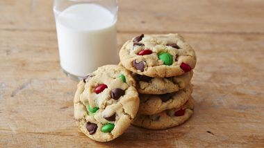 Chocolate Chip M&Ms™ Christmas Cookies