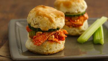 Buffalo Chicken Biscuit Sliders