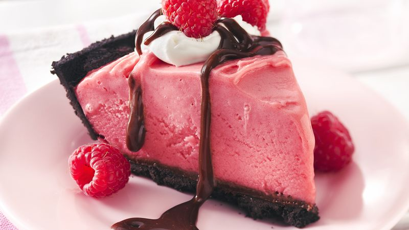 Frozen Chocolate-Raspberry Pie recipe from Betty Crocker