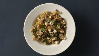Caramelized Onion and Mushroom Quinoa