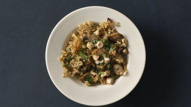 Caramelized Onion and Mushroom Quinoa