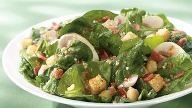 Italian Spinach and Mushroom Salad