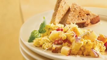 Gluten-Free Herbed Potato Egg Scramble