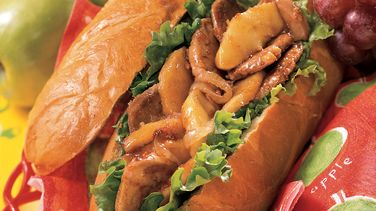 Sweet and Spicy Pork, Onion and Apple Sandwiches