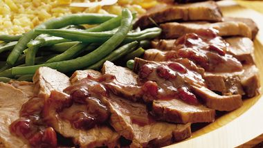 Slow-Cooker Pork Roast with Cranberries