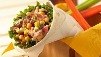 Salmon Salad Wraps