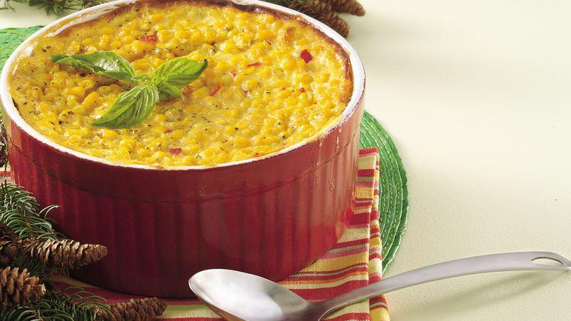 Basil Scalloped Corn