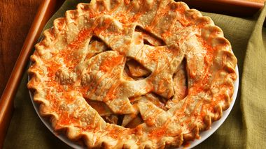Jack-o'-Lantern Pear Pie