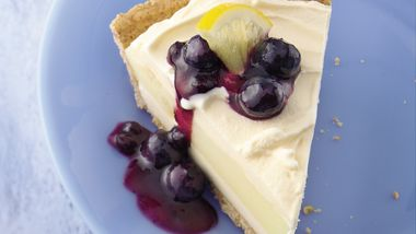 Blueberry-Topped Lemon Ice-Cream Pie