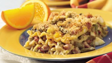 Havarti Ham and Egg Lasagna