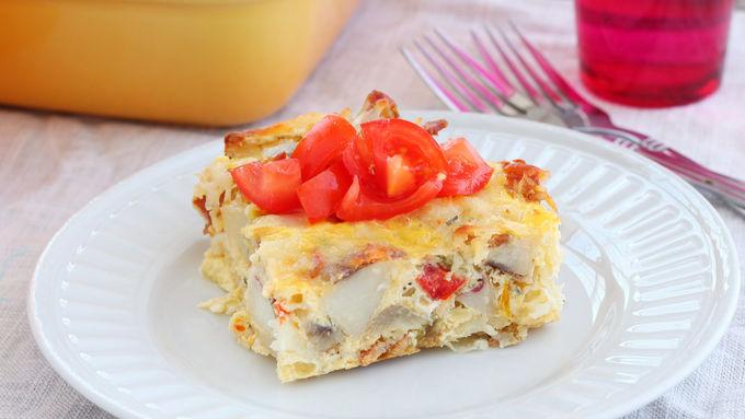 Cheesy Potato-Egg Bake