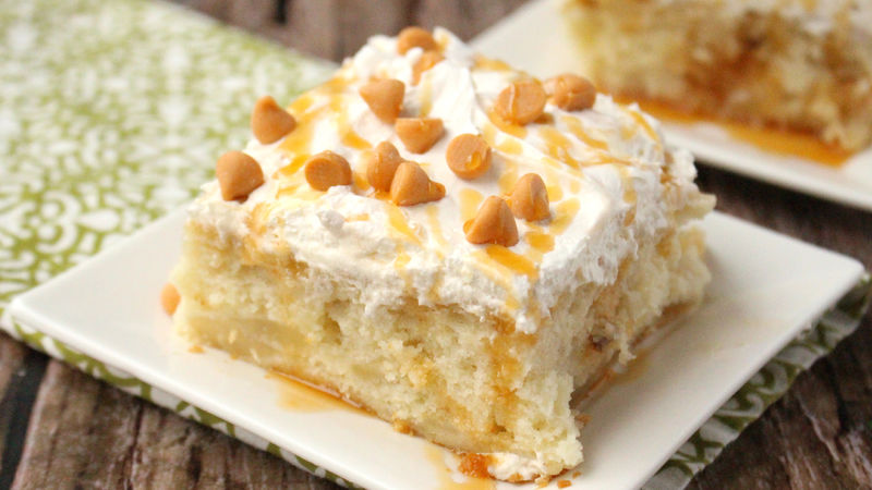 Betty Crocker Caramel Apple Poke Cake Recipe