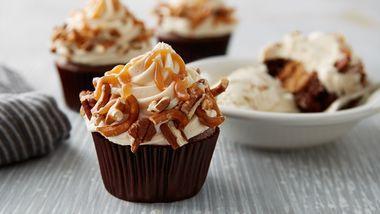 Sky-High Salted Caramel Chocolate Cupcakes