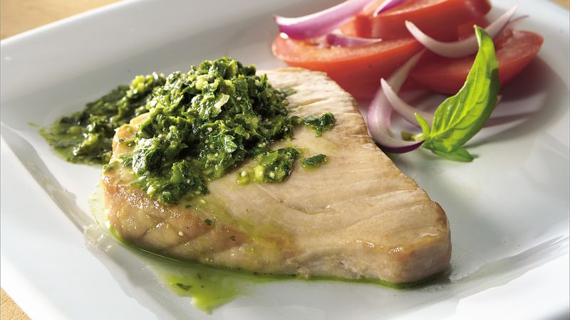 Tuna with Three-Herb Pesto