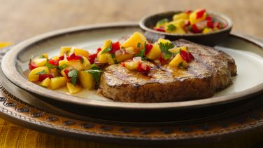 Southwestern Grilled Pork Chops with Peach Salsa