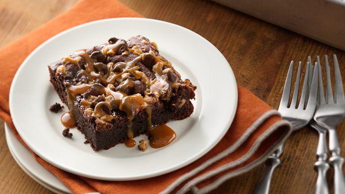 Gluten-Free Gooey Chocolate Toffee Cake