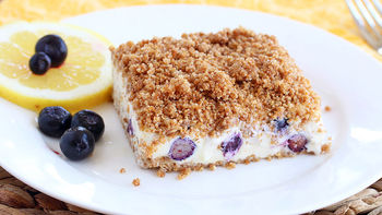 Lemon Blueberry Frozen Crunch Cake