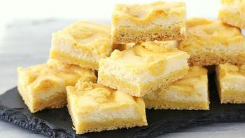Triple Lemon Cheesecake Swirl Bars