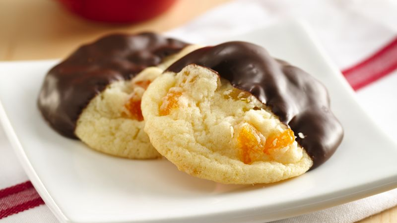 Dark Chocolate Apricot Cookies