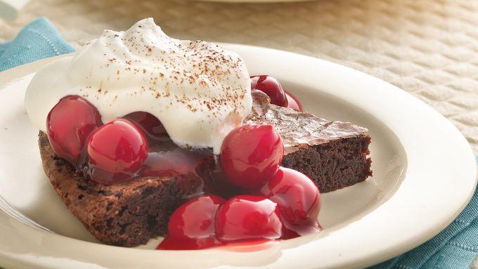 Black Forest Brownie Dessert