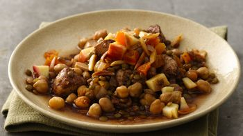 Moroccan Chicken-Lentil Casserole