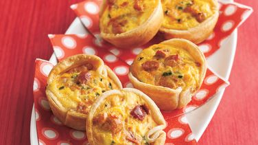 Spicy Mexican Quiche Cups