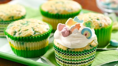 Marshmallow Topped Lucky Cupcakes