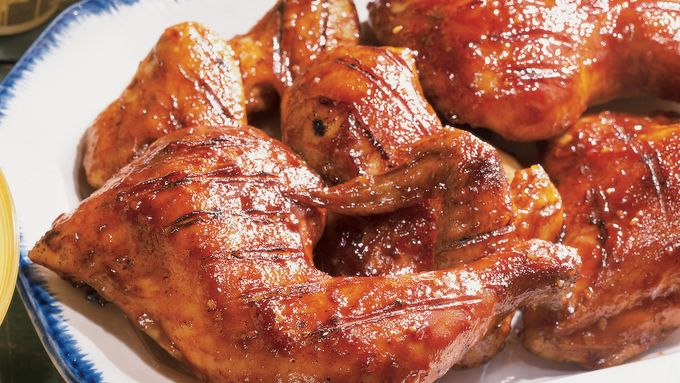 Grilled Honey Barbecued Chicken