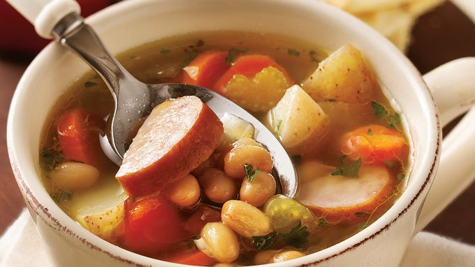 Slow-Cooker Smoked Sausage and Bean Soup recipe - from ...