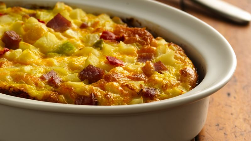 Biscuit, Ham and Potato Bake