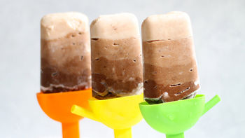 Chocolate Ombre Yogurt Pops