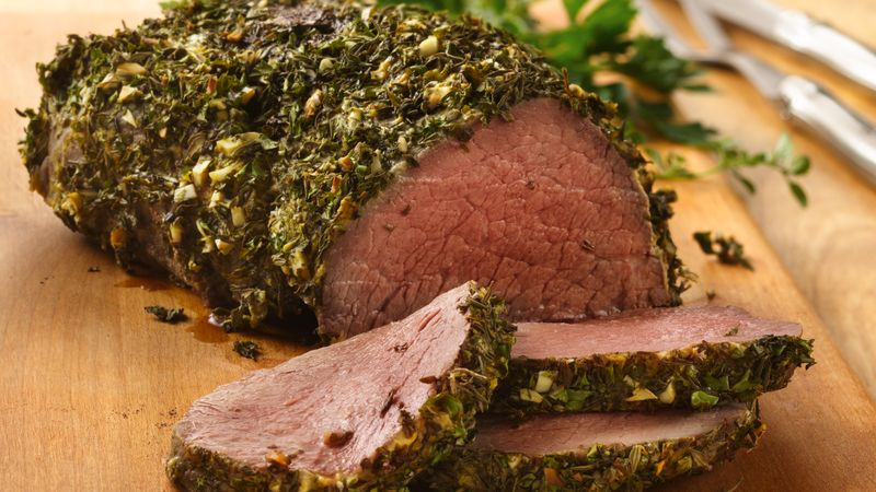 Beef tenderloin with herb dijon crust recipe from betty crocker