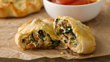 Spinach, Ricotta and Sausage Calzones