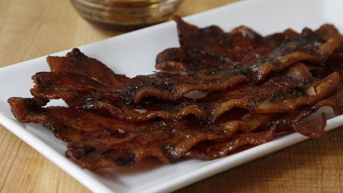 Maple-Brushed Bacon