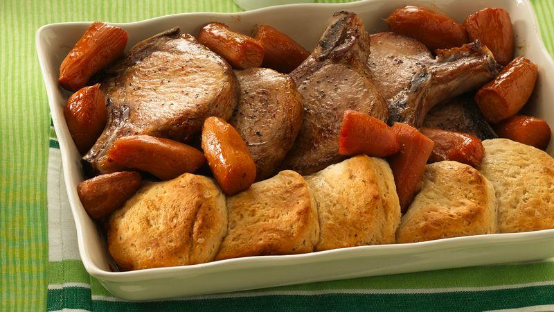 Maple Pork Chop Dinner