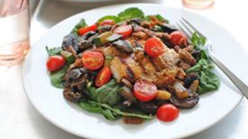 Grilled Tilapia Spinach Salad