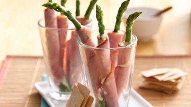 Ham and Asparagus Rolls