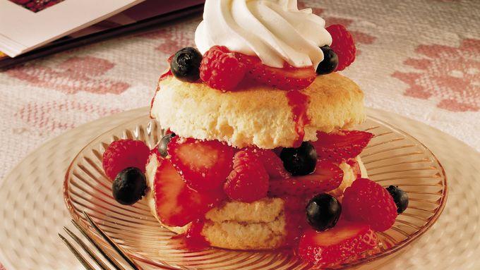 Three-Berry Shortcakes