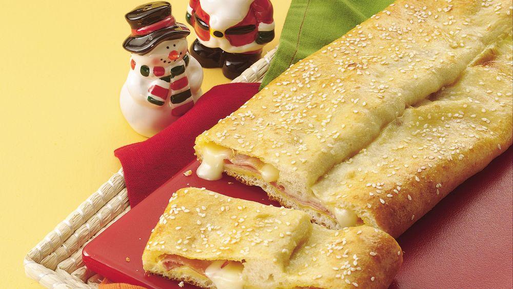 Ham and Swiss Sandwich Roll