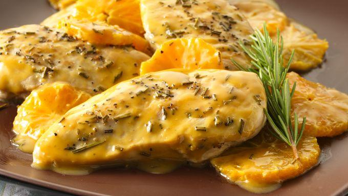 Orange-Glazed Chicken with Rosemary