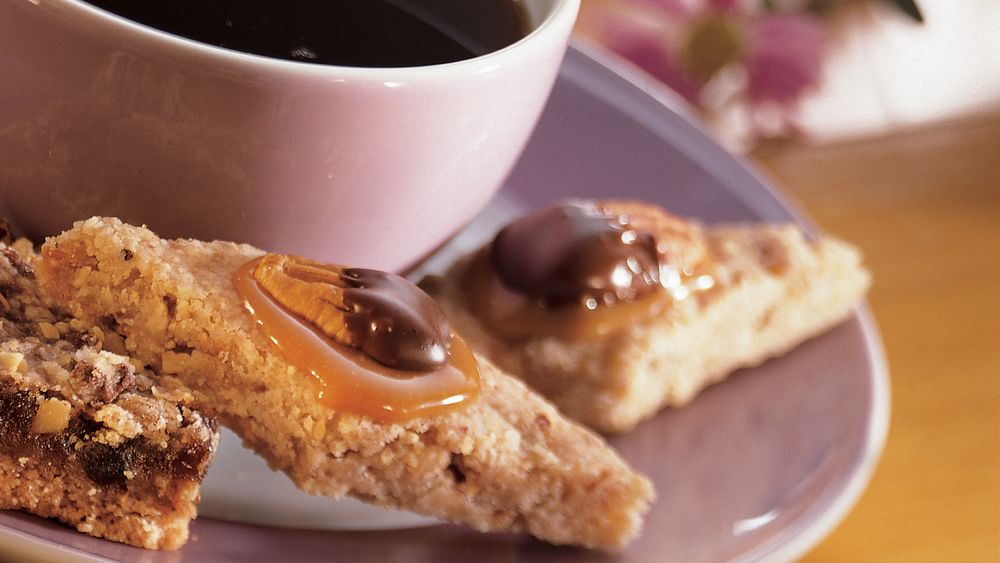 Caramel and Nut Diamond Delights