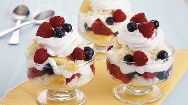 Three-Berry Trifle